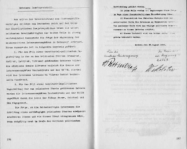 Pactul Ribbentrop-Molotov. Protocol secret, germana